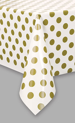 Gold Dotty Tablecover