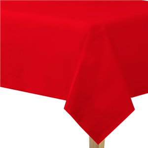 Red Plastic-Lined Paper Tablecover