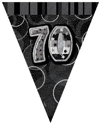 Black Glitz Age 70 Bunting