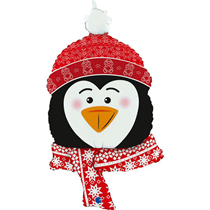 Sweet Penguin Head Super Shape Balloon