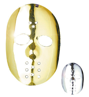 Gold/Silver Hockey Masks