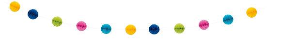 Multi Coloured 7ft Honeycomb Ball Garland