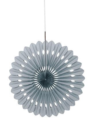 """Silver 16"""" Paper Fan"""