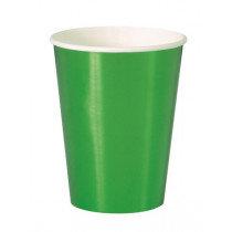 Green Metallic Cups