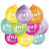 Air Fill Age 60 Balloons