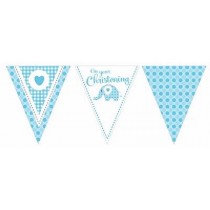 Blue Christening Paper Bunting