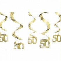 Golden Anniversary Swirls