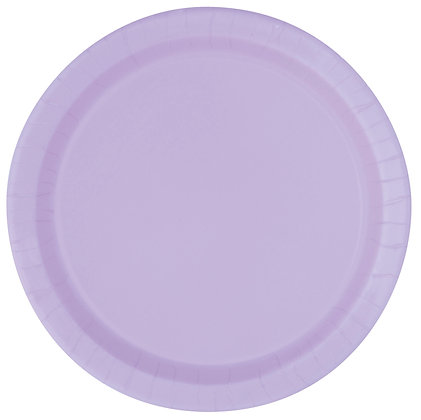 """Lavender 9"""" Paper Plates"""