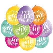 Air Fill Age 40 Balloons