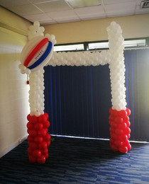 Rugby Club Photo Booth Installation