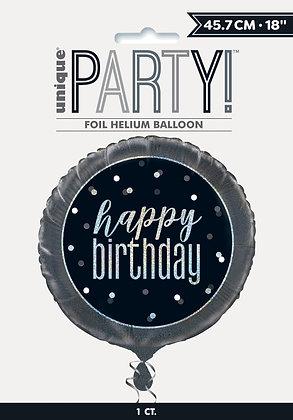 New Glitz Black Foil Balloon