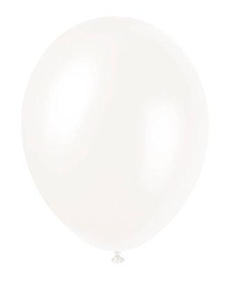 "White 11"" Latex Balloons"