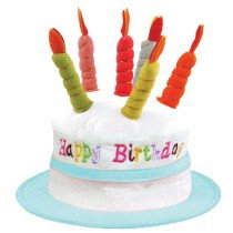 Blue Candle Birthday Hat