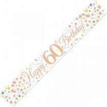 Rose Gold Age 60 Banner