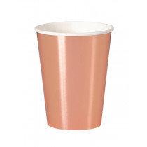 Rose Gold Metallic Cups
