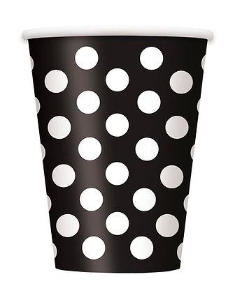 Black Dotty Cups