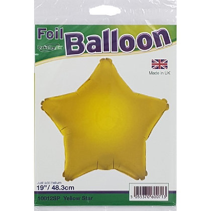 Yellow Foil Star Balloon