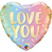 Love Pastel Ombre Std Foil Balloon