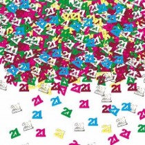Multi-Colour Age 21 Confetti