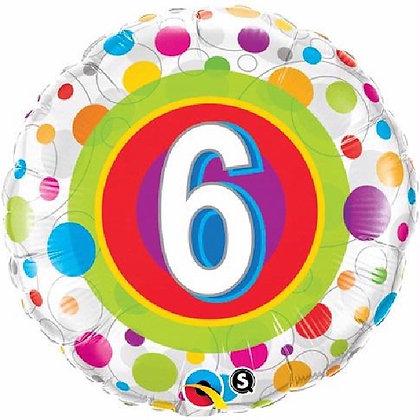 Age 6 Foil Balloon