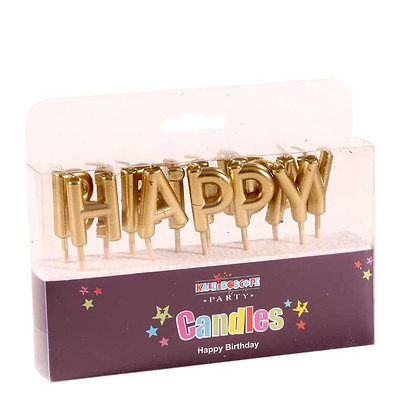 Gold Birthday Pick Candles
