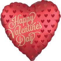 Satin Luxe Heart Valentines Day Foil Balloon