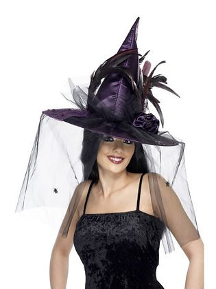 Deluxe Purple Witch Hat