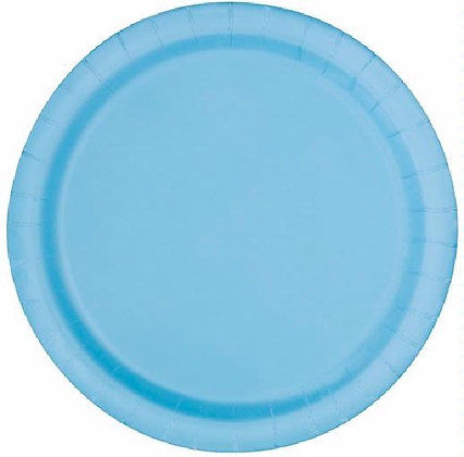 """Baby Blue 9"""" Paper Plates"""