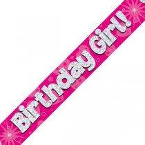 Pink Birthday Girl Banner