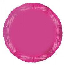 Fushia Round Foil Balloon