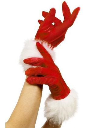 Ladies Santa Gloves