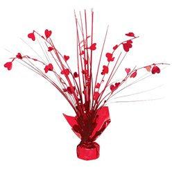 Red Heart Foil Centre Piece