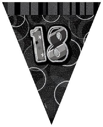 Black Glitz Age 18 Bunting