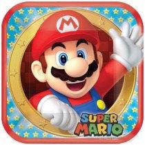 Mario Paper Plates
