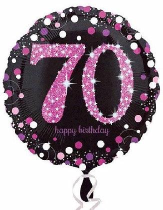 Pink Sparkle Age 70 Foil Balloon
