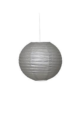 """Silver 10"""" Paper Lantern"""