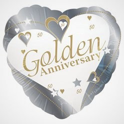 Golden Anniversary Foil Balloon