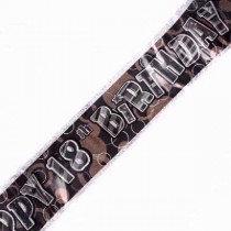 Black Glitz Age 18 Banner