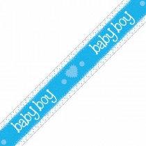 Blue Baby Boy Banner