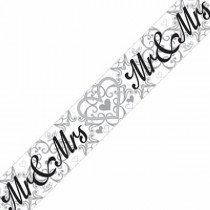 Mr & Mrs Foil Banner