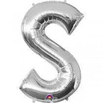 Super Shape Silver Letter S