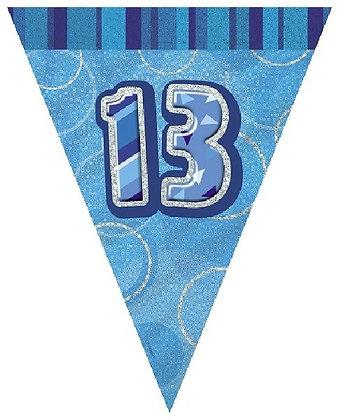Blue Glitz Age 13 Bunting