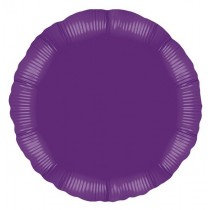 Purple Round Foil Balloon