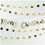 Gold Metallic Christmas Bunting
