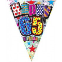 Happy 65th Birthday Bunting