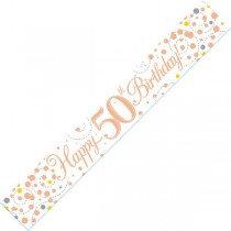 Rose Gold Age 50 Banner