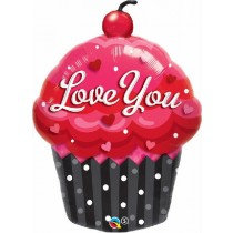 Love You Cup Cake Super Shaped Balloon