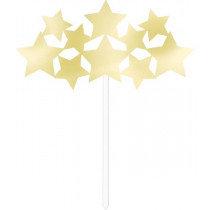 Gold Star Cake Pick Decoration