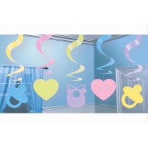 Multi Colour Baby Shower Swirls