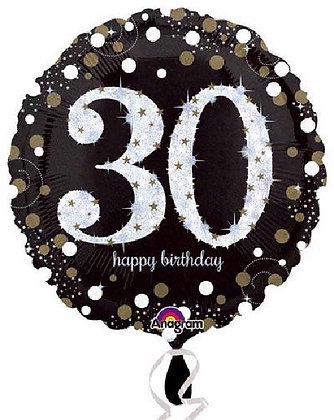 Gold Sparkle Age 30 Foil Balloon